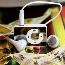 Mini Clip USB MP3 Music Media Player Support 1-8GB Micro SD TF + Headphone + Cable