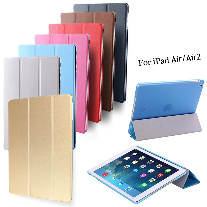 Ultra Slim Tablette Protection Housse Funda De Coque for Apple Ipad Air / Air 2 Ipad 5 6 Retina Tablet Smart Leather Case Cover(China (Mainland))