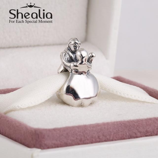 Shealia ювелирные изделия стерлингового серебра 925 рождество танцевальной пары подвески fit женщины известные браслеты сделай сам ювелирное лучший рождественский подарок