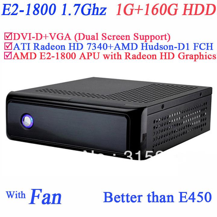 AMD E2 1800 1.7Ghz IPC diskless embeded windows thin clients with ATI Radeon HD 7340 512MB AMD Hudson-D1 FCH 1G RAM 160G HDD(China (Mainland))