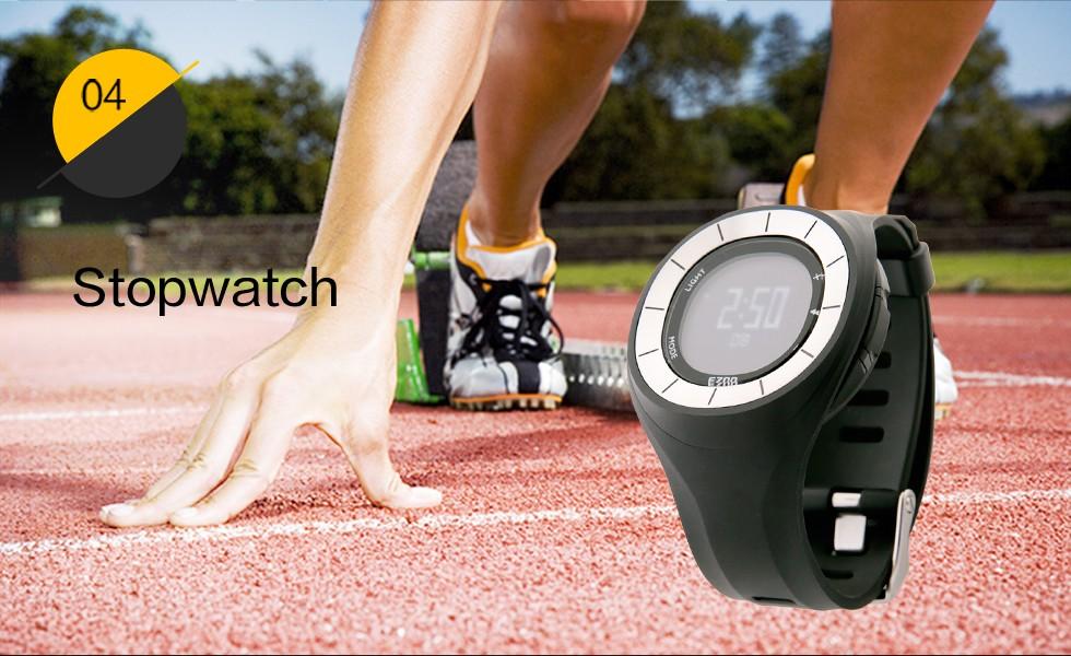 Ezon открытый спортивные часы многофункциональный электронный тахометр мужчины и женщины, работающие расстояние шагомер 50 м водонепроницаемые часы