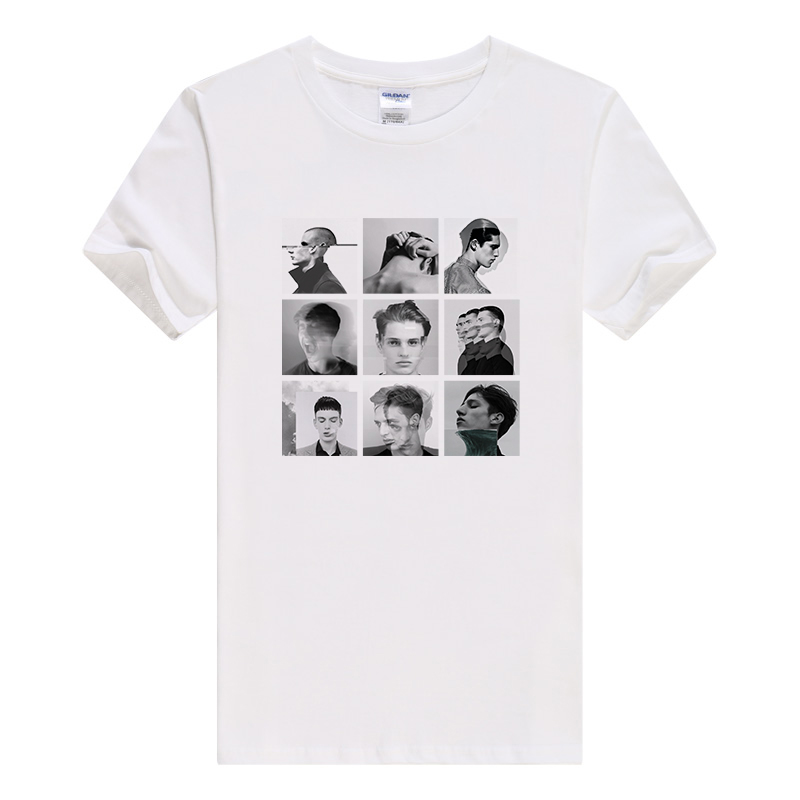 T shirt men fashion 2017 the attitude Printed Hipster Tees Knitted O-Neck short sleeves Cotton Casual shirt B118(China (Mainland))