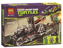 Free Shipping 2014 TMNT Shredder's Dragon Bike Set Teenage Mutant Ninja Turtles Building Block Series Assembly Toy Figure 203PCS