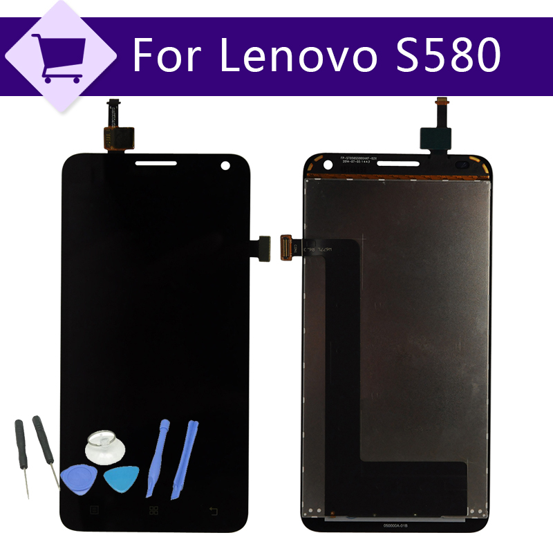 Original FOR Lenovo S580 LCD Display Digitizer touch Screen Assembly +Tools free shipping