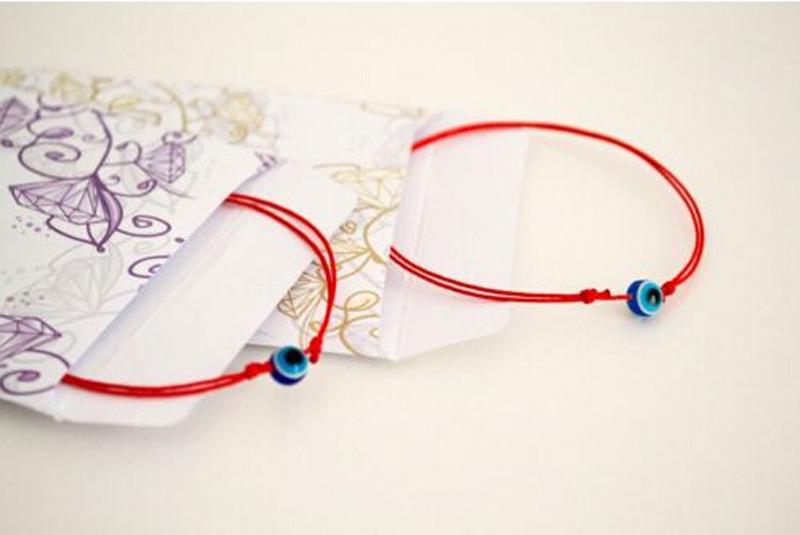 Aliexpress.com Comprar JINSE Hilo Rojo Kabbalah Pulsera Mal de Ojo Azul Simple Pulsera de la Manera Barata Para Mujer Bebé Niño Conjunto de Dos BRS004 de