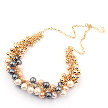 High Quality Fashion Retro Palace Pearl Lady Collar Choker Necklace Hot Free Shipping