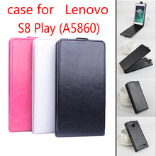 Lenovo S8 Play Original Baiwei Flip up-down With cover Protective Leather case For A5860 Octa core Smartphone White Black Pink