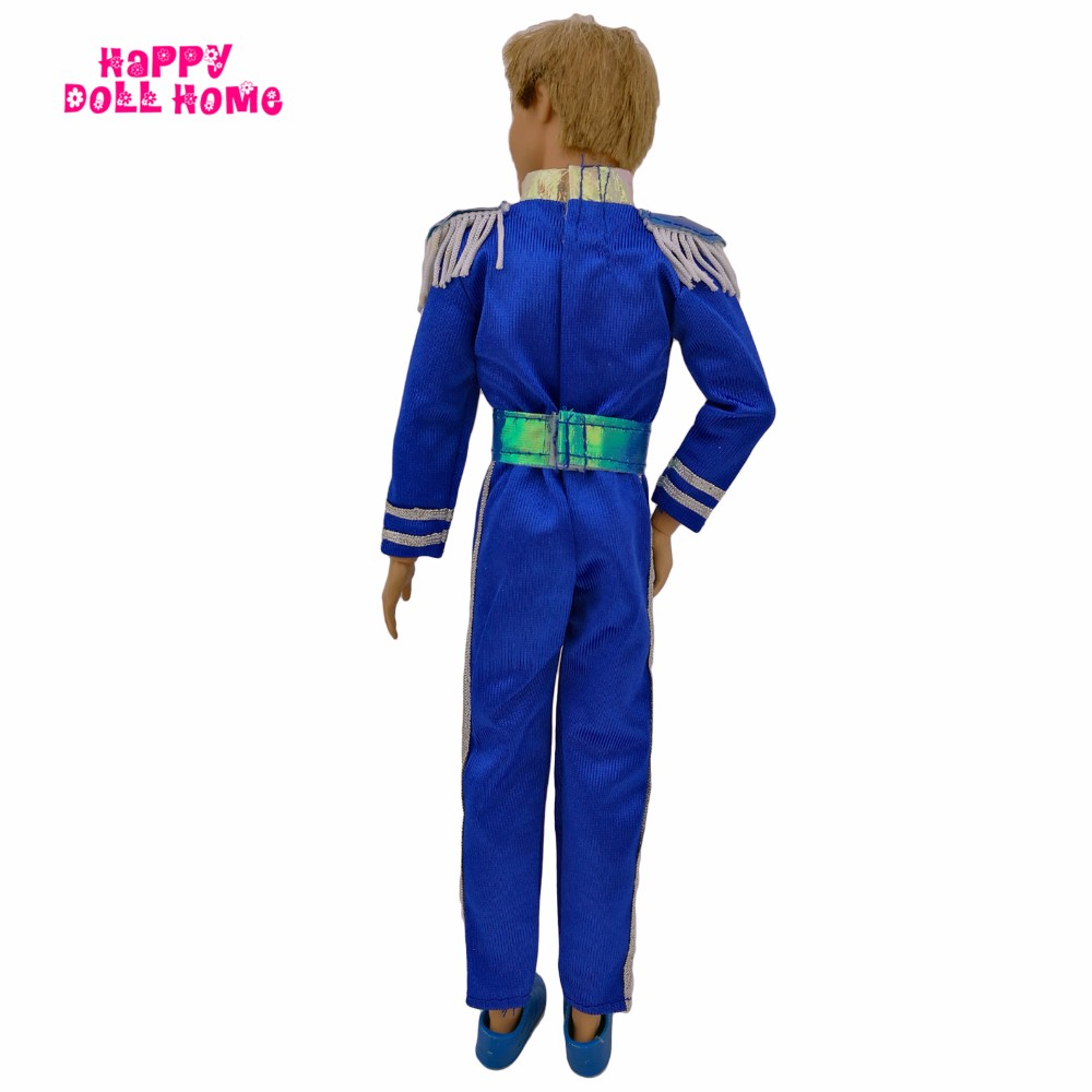 Royal Prince Uniform Males Outfit Belt Male Jumpsuits Garments Sneakers For Barbie Pal Ken Doll 1/6 Puppet Play Home Toys Child Present