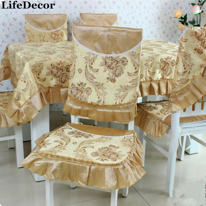 Rustic Cotton Fabric Table Cloth