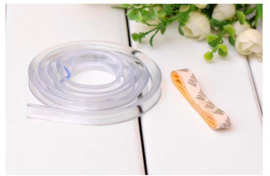 Высокое качество 1 м мягкого силикона стол настольные край гвардии протектор подушка бампер