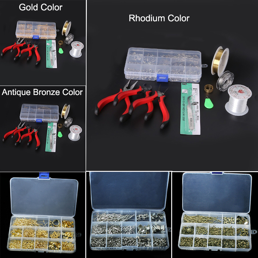 Jewelry Tools set Equipments DIY fashion Wholesale JEWELLERY MAKING KIT, BEADS/FINDINGS/PLIERS Fit jewelry findings ZH-BDH010<br><br>Aliexpress