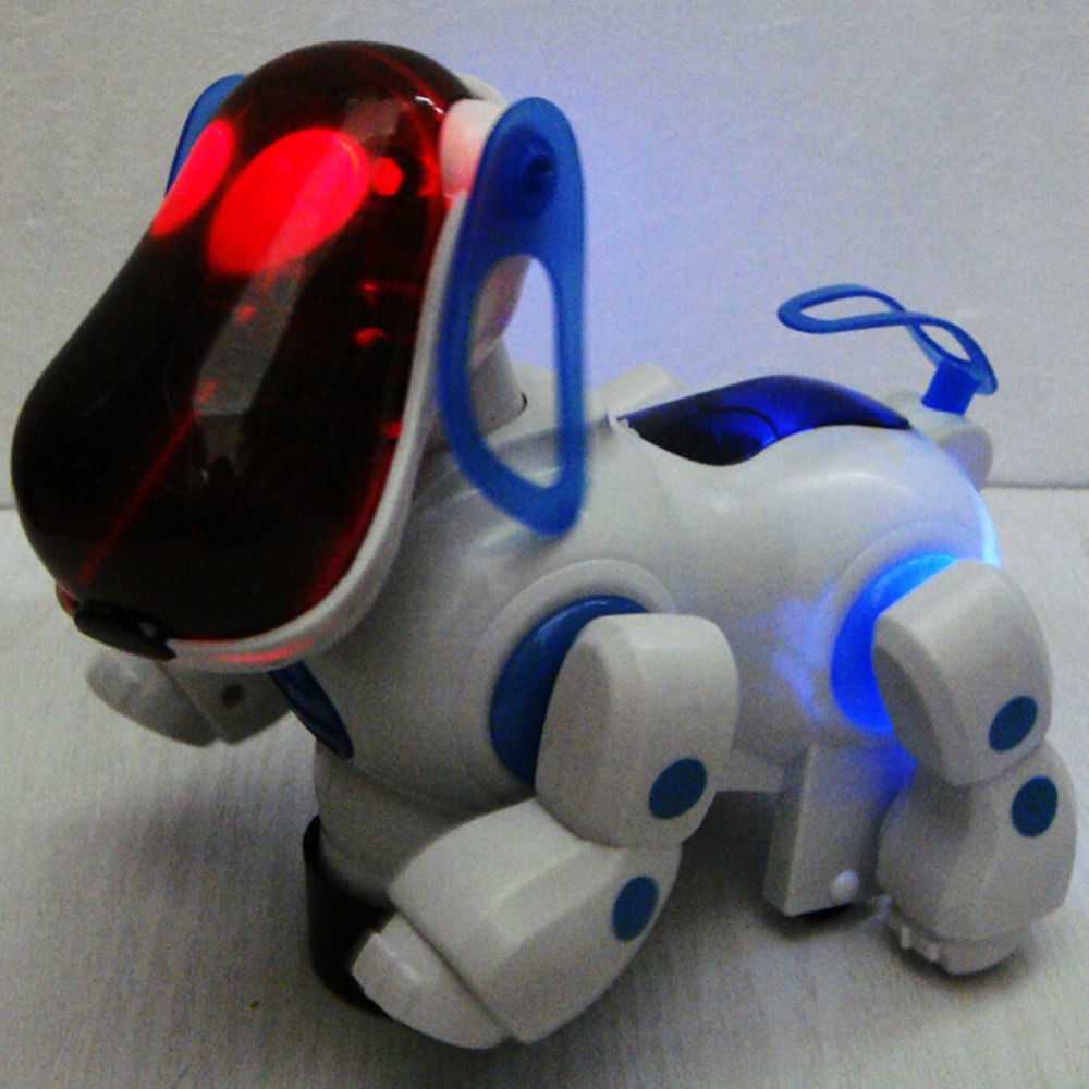Lovely Electronic Robot Walking Dog Puppy Toy Music Shine Pet Safe Kids Toy Lights Freeshipping C0A619(China (Mainland))