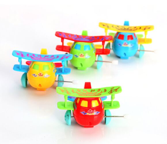 Lovely toy wind up toys dump chain dumping Kids Gift Baby toy baby multicolour butterfly wings classic toys airplane model +(China (Mainland))