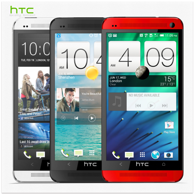Original HTC One M7 Cellphones Android 4.4.2 32GB Quad Core 1.7GHz 4.7''1920x1080 NFC Unlocked Phone Refurbished(China (Mainland))