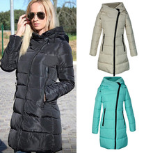 Buy 2017 Women Winter Long Outerwear Cotton Padded Coat Long-Sleeved Warm Coats Hooded Long Quilted Zipper Jacket Parka Plus Size for $28.59 in AliExpress store