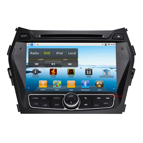 Free shipping-Android Car DVD GPS for Hyundai IX45 Santa fe 2013 with Capacitive screen,Canbus,Radio,Support OBD Car DVR 3G WiFi(China (Mainland))