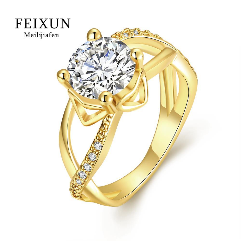 R050-A High Quality Nickle Free Antiallergic New Fashion Jewelry 18K Plated zircon Ring(China (Mainland))