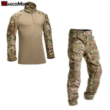 Buy Tactical Camouflage Military Uniform Clothes Suit Men US Army Multicam Airsoft Combat Shirt + Cargo Pants Knee Pads AG-JNSZ-001 for $56.97 in AliExpress store