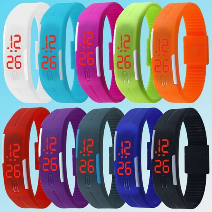 LED hand ring table sports noctilucence watch luminous jelly bracelet  watch the trend of fashion electronic watch(China (Mainland))
