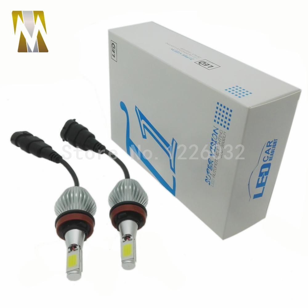 H8 H9 H11 LED Headlight Conversion Kit 30W Headlamp White Lamp HID Xenon Kit 12v Bulb Lamp Car COB LED Chips H7 H1 H3 9005 9006(China (Mainland))