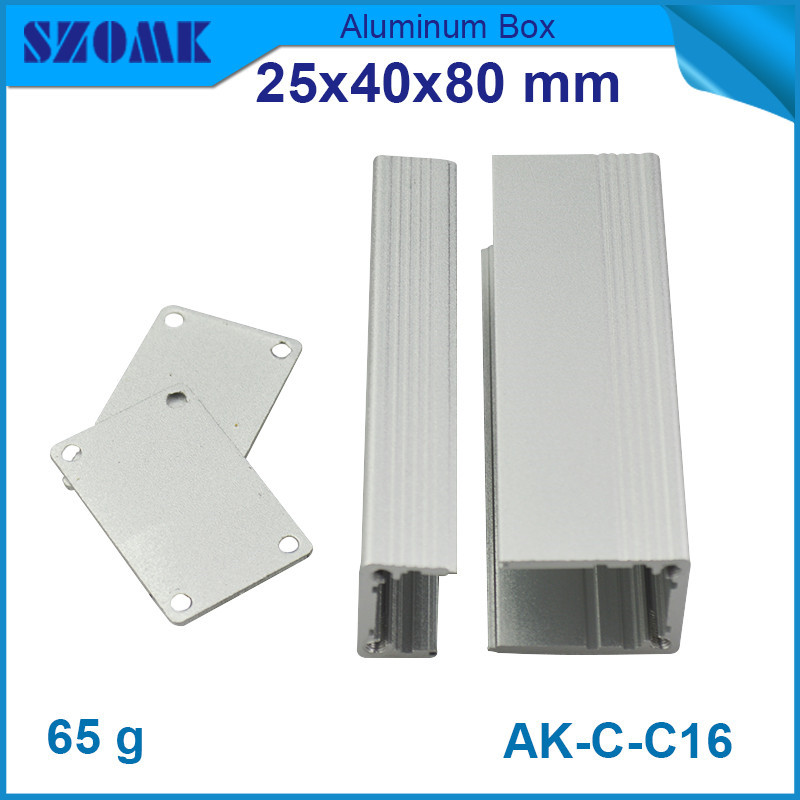 4pcs/lot diy electrical switch box in silver color anodizing aluminium housing cabinet 25*40*80mm<br><br>Aliexpress