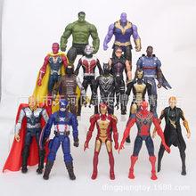 FLXL 14 em 1 Vingadores Homem De Ferro Homem Aranha Capitão América Marvel Legends Defensiva Modelo Action Figure Coleção de Brinquedos de Presente(China)