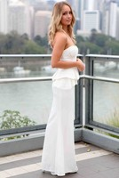 Вечернее платье Dear lover vestido noite 2015 LC6733 vestidos brancos femininos LC6733-1 LC6733-2