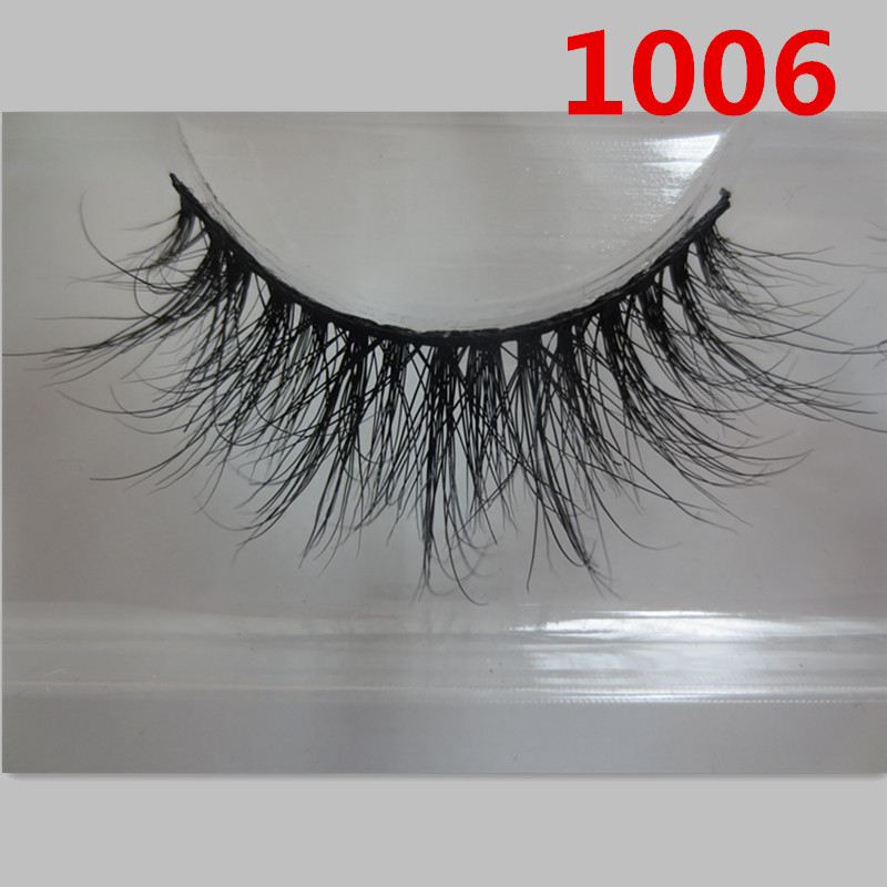 AT0532 100% real siberian 3d mink fur strip false eyelash long individual eyelashes mink lashes extension(China (Mainland))