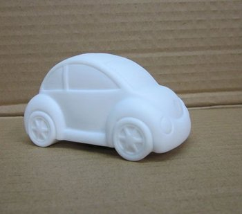 DIY ferrite Beetle Car / Vinyl White Car Mold / DIY Platform Toys / Paint Your Mind Magic Car