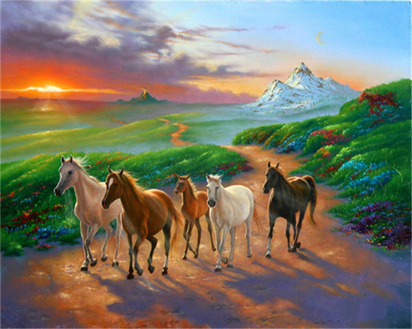 3D DIY Diamond Painting Horse Grope Diamond Cross Stitch Unfinished Embroidery Home Decoration Handicraft Crystal Mosaic