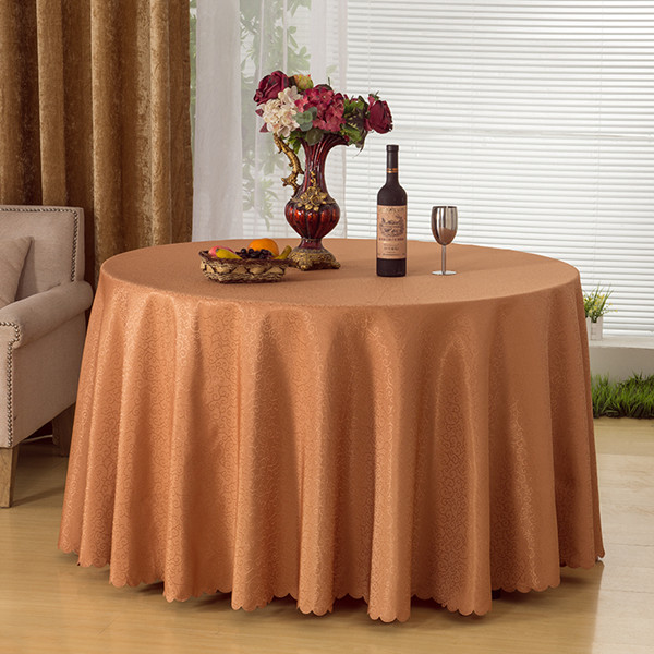 Home Decoration Big Size Round Table Linens For Wedding/Party/Banquet Jacquard Fabric Dining Table Cloths Outdoor Tablecloth(China (Mainland))