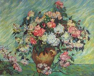 Peinture l 39 huile de reproduction van gogh paysage toile art van 017 dans peinture et - Peinture a l huile van gogh ...