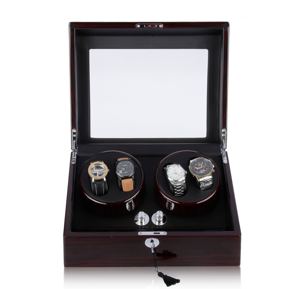2015 Luxury Brand Watch Winder For Brands Of Automatic Watches 4+6 Storage Display Case Box Rotation A Perfect Gift<br><br>Aliexpress