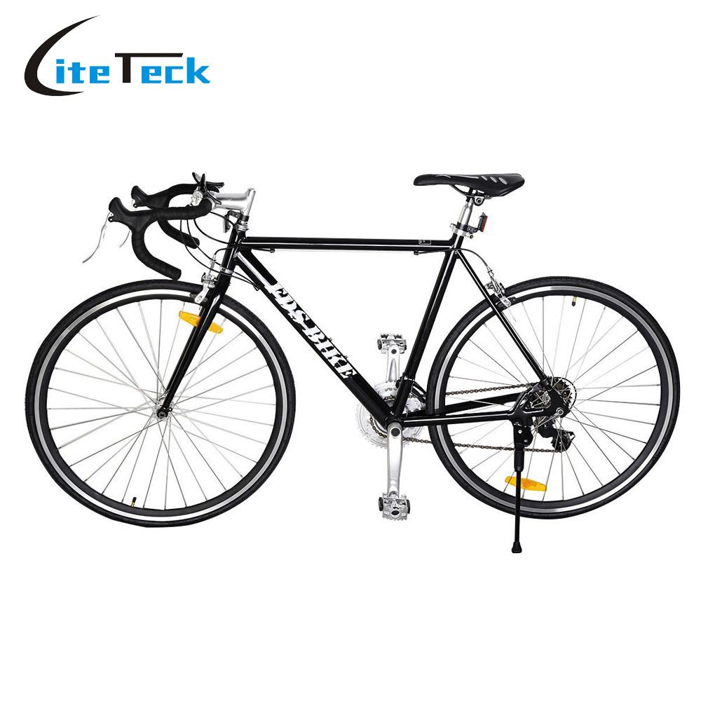 New 54cm Aluminum Road Bike Cycling Racing Bicycle 21 Speed Bicicletas Black /White Mountain Bike(China (Mainland))