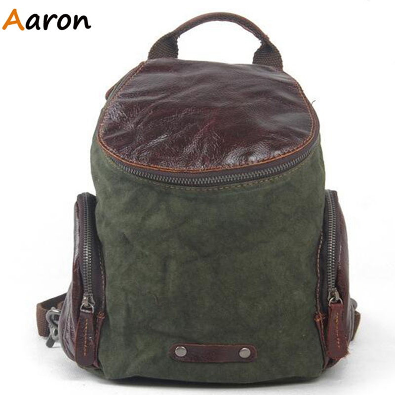 Aaron - Retro Girls Daypacks Backpacks For College European And American Style Casual Travelling Bag Solid Pocket Computer Bags