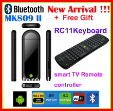 Wholesale Bluetooth MK809 II Dual Core Mini Android 4.1 PC RK3066 1.6Ghz Cortex A9 1GB / 8G + Real RC11 fly Air Mouse(China (Mainland))