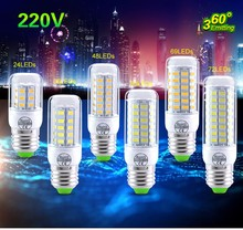 Led Corn Bulb E14 E27 Led Lamp 220V 240V 3W 5W 7W 12W 15W 18W 20W SMD 5730 (5630) Lampada Spotlight Lanterna Candle Chandelier(China (Mainland))