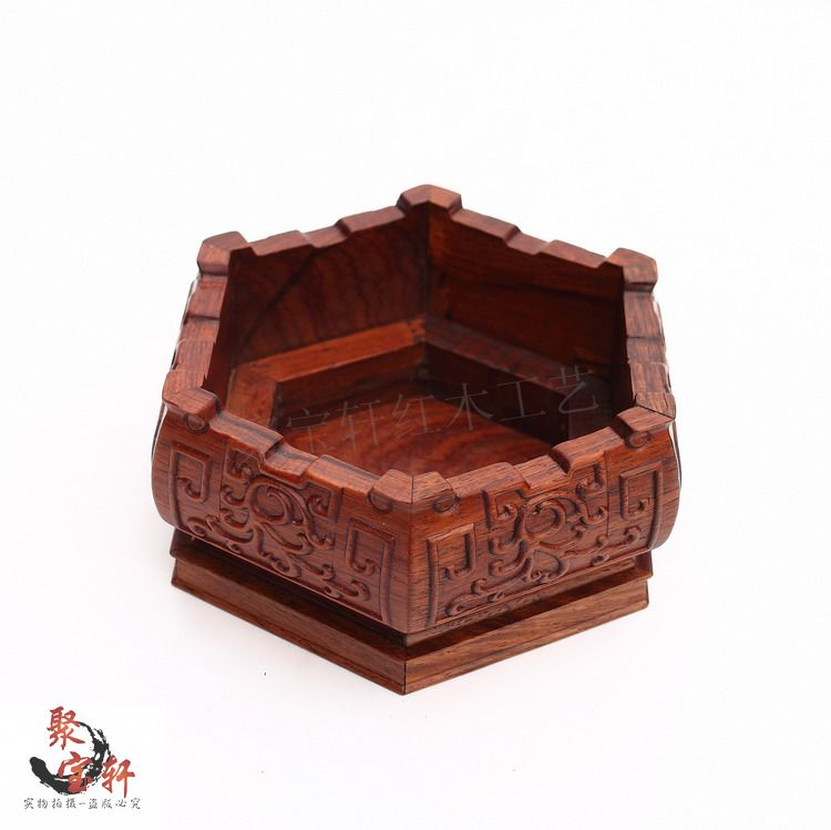Redwood carved stone flowerpot vase of Buddha handicraft furnishing articles white acid tank base branch