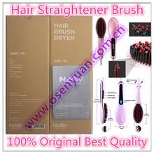 2016 Hot Sales Hair Straightener Brush AU EU US UK Plug Best Electric Hair Brush Digital Control Ceramic Plate(China (Mainland))