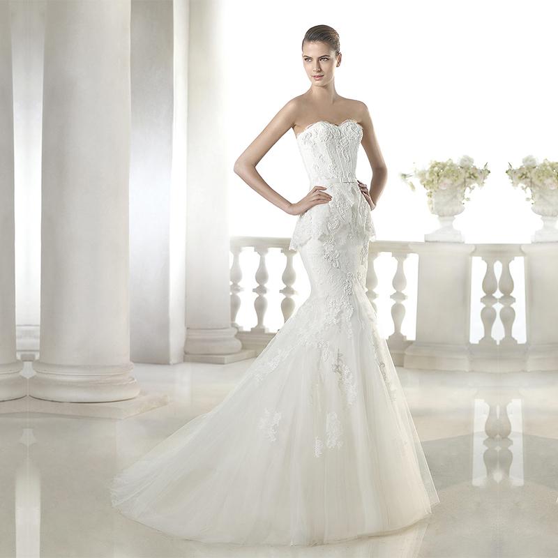 Wedding Dresses For Thin Brides : New slim thin waist minimalist bride bra fishtail