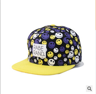 2014autumn and winter hat Korean fashion tide haired female cute smiley hip-hop snapback flat brimmed hat factory wholesale bone(China (Mainland))