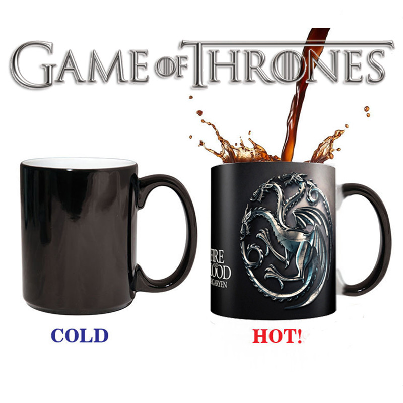 New Game of Thrones Targaryen Right Coffee Cup Mug Mark Color Changing Cups Sensitive Ceramic Tea La Copa Friends Gift(China (Mainland))