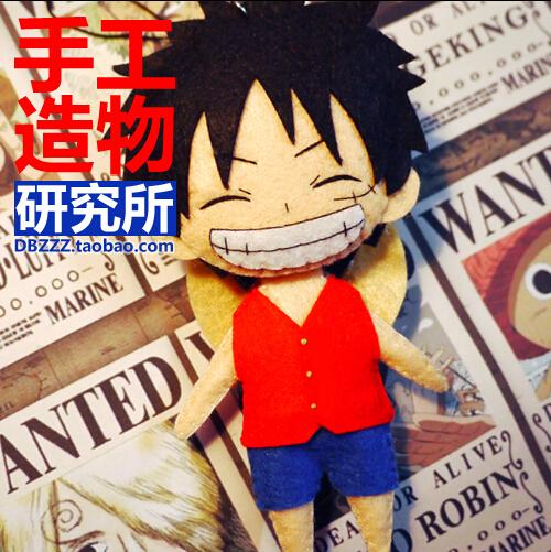 Hot New Japanese Anime ONEPIECE Monkey.D.Luffy Q Edition Cosplay Costume DIY Toy Doll Keychain Free Shippinp(China (Mainland))