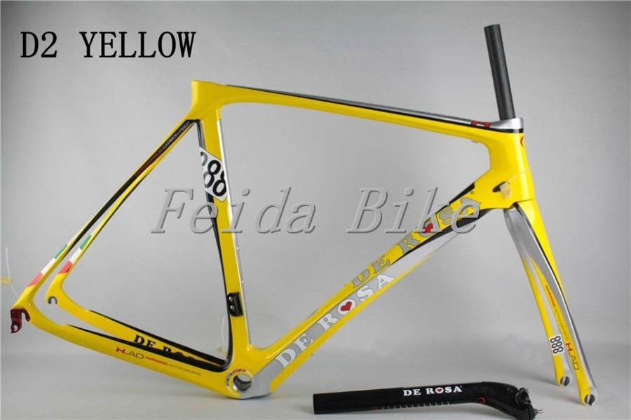 New DE Rosa 888 super king carbon road bike frame color yellow D2, exclusive sale(China (Mainland))