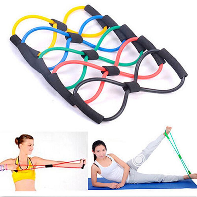 Гаджет  Chic Resistance Training Bands Tube Body Fitness Muscle Workout Exercise Elastic Mystic Yoga Bands 8-Type Tube Equipment Tool None Спорт и развлечения