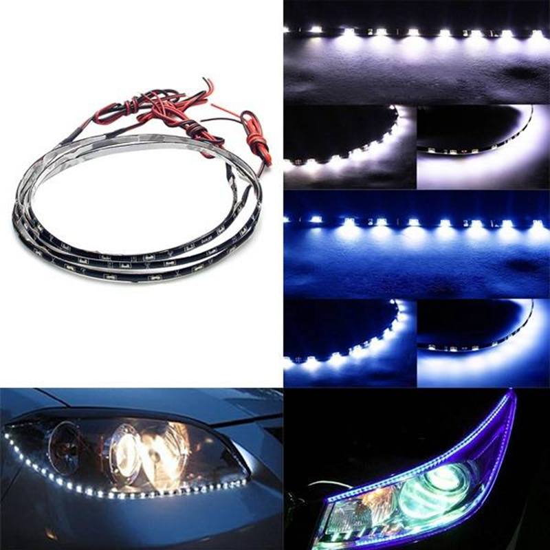 2015 New 335 60CM 30SMD Car Side Emitting Eyebrow Glow Flexible LED Strip Light Waterproof(China (Mainland))