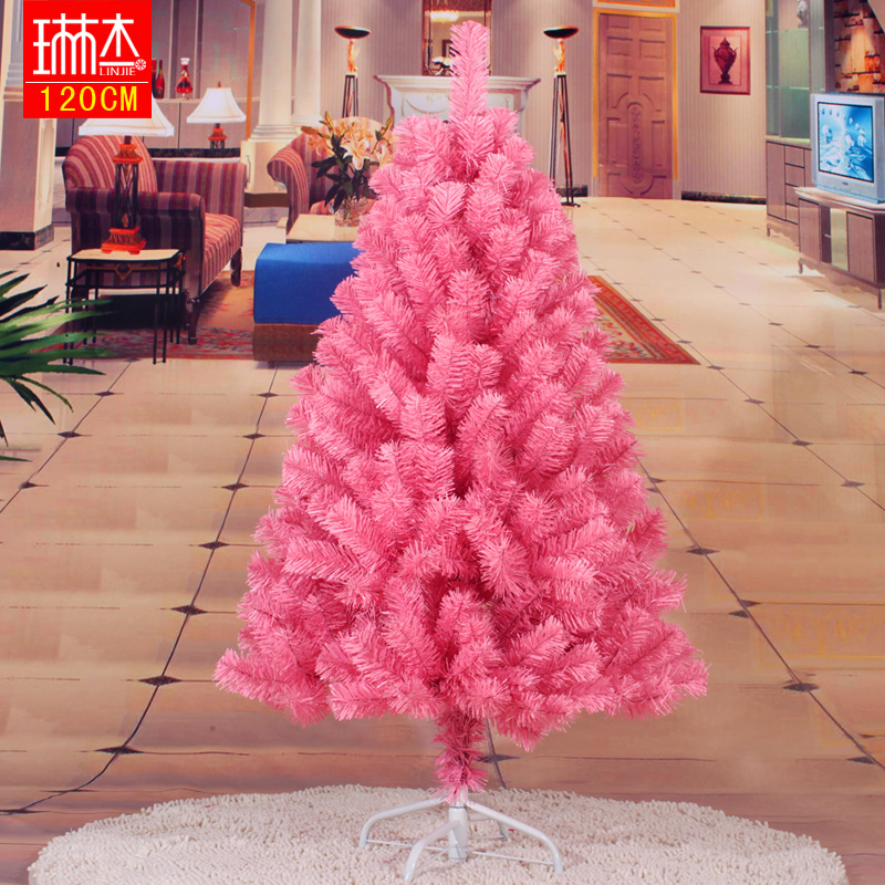 freeshipping Pink christmas tree christmas tree multicolour 1.2 meters pink 120cm Christmas decoration supplies(China (Mainland))