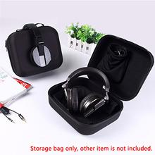 Buy Universal Waterproof Dustproof EVA Hard Headset Storage Case Box Headphone Organizer Holder 2 Removable storage Pouch Bag for $12.68 in AliExpress store