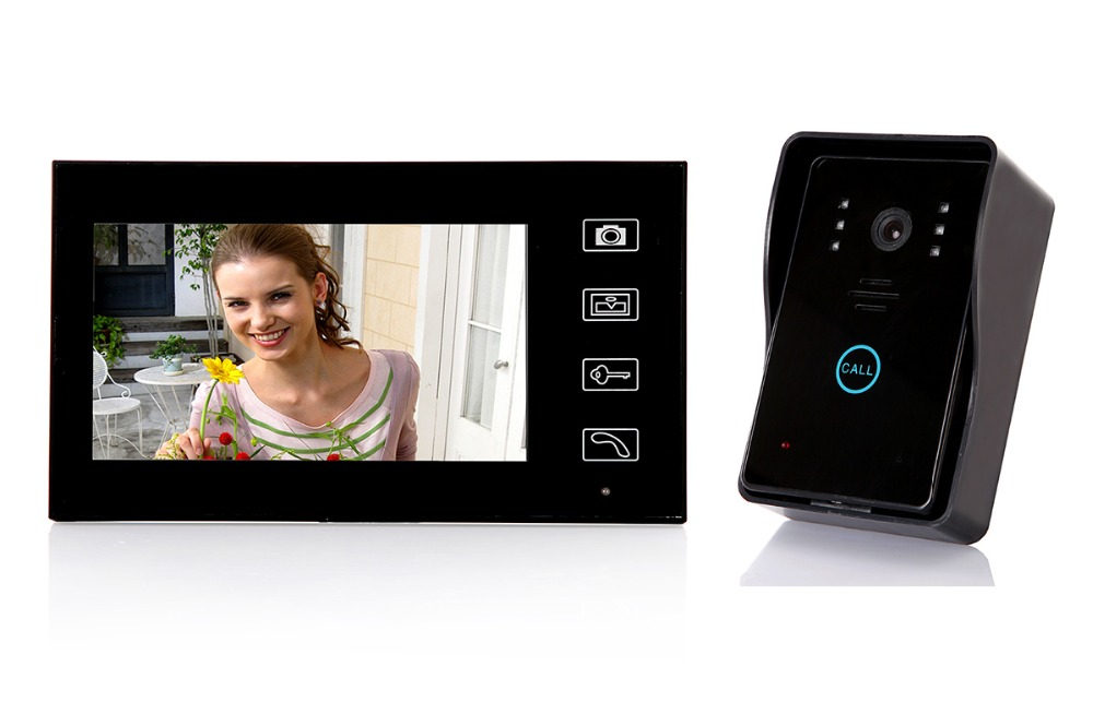 7 Inch 2.4Ghz Wireless Video Door Phone Wireless Intercom System Access Control System(China (Mainland))