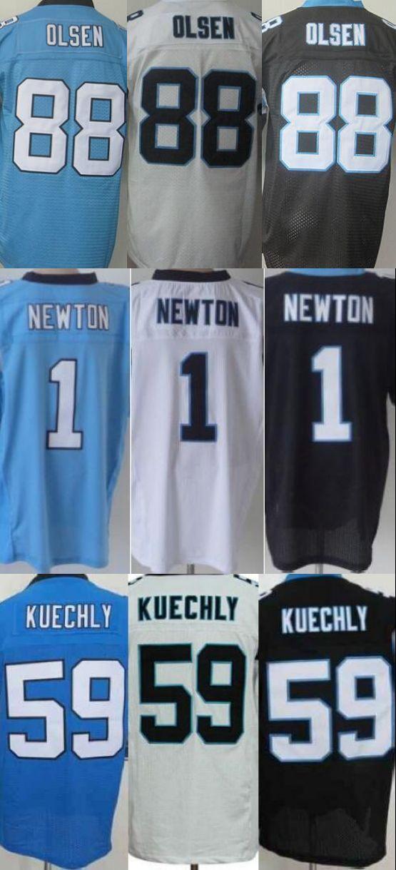 Men's 1 Cam Newton Jersey Elite 59 Luke Kuechly Jersey,Best quality 13 Kelvin Benjamin 88 Greg Olsen stitched(China (Mainland))